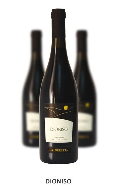 DIONISO Vitigni: Pinot Nero 100% Vinificazione: Lunga macerazione sulle bucce per 20/22 giorni. Affinamento in tonneaux per 8 mesi e in bottiglia per 6 mesi.