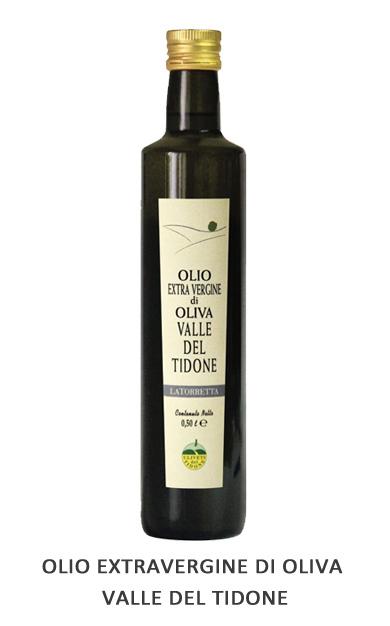 OLIO EXTRAVERGINE DI OLIVA VALLE DEL TIDONE Cultivar: Leccino e Frantoio Frantoiatura con estrazione a freddo.