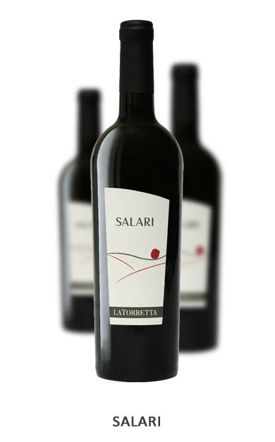 SALARI Vitigni: Cabernet Sauvignon 35% - Merlot 35% Bonarda 30% Vinificazione: Macerazione sulle bucce per 13/15 giorni. Affinamento in botte di acciaio per 12 mesi e in bottiglia per 3 mesi.