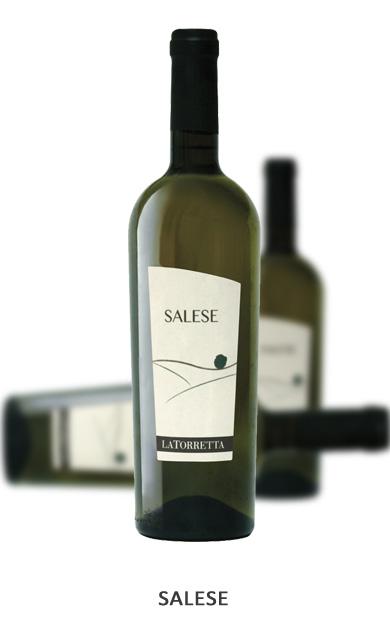 SALESE Vitigni: Chardonnay 70% - Sauvignon Blanc 30% Vinificazione: Uve selezionate e raccolte in piccole cassette. Pressatura soffice di grappoli interi. Fermentazione a bassa temperatura. Affinamento sulla feccia nobile in botte di acciaio per 6 mesi.