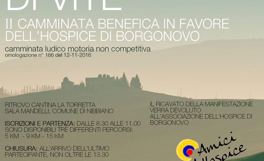 Camminata benefica in favore dell'hospice di Borgonovo Camminata ludico motoria non competitiva